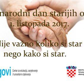 Plakat za dan starijih 2017